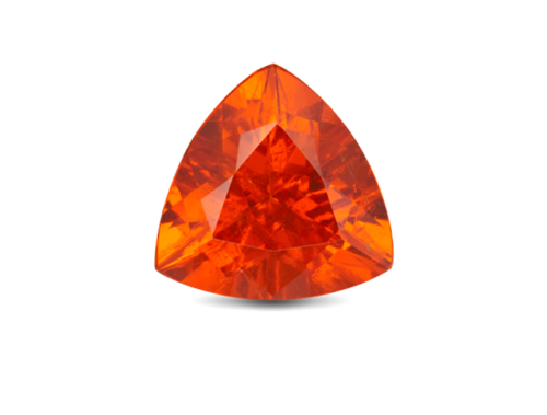 Transparent minerals garnet. Gemstone at rs piece