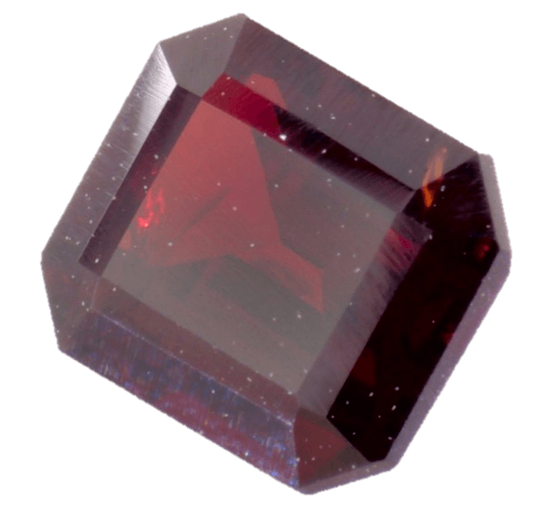 Transparent mineral garnet. Cts of gemstone
