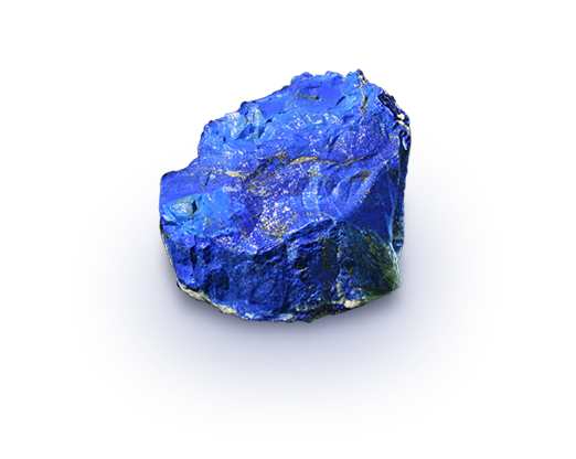 Transparent mineral gem. Lapis lazuli the birthstone