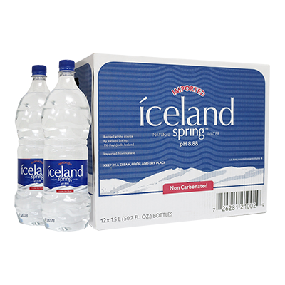Transparent mineral iceland found. Box of l