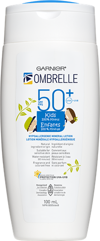 Transparent mineral kid. Ombrelle kids lotion spf