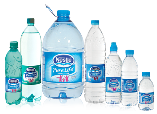 Transparent mineral pure. Nestl life purified water