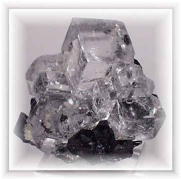 Transparent stones danburite. Clear white fluorite the