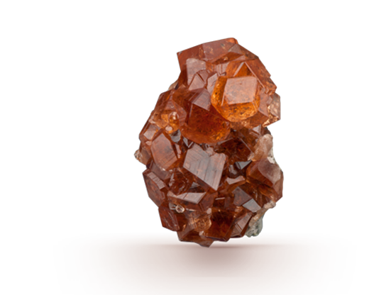 Transparent minerals garnet. Gia gem encyclopedia complete