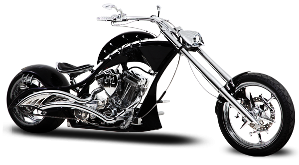 Transparent motorcycle chopper. Orange county choppers proud
