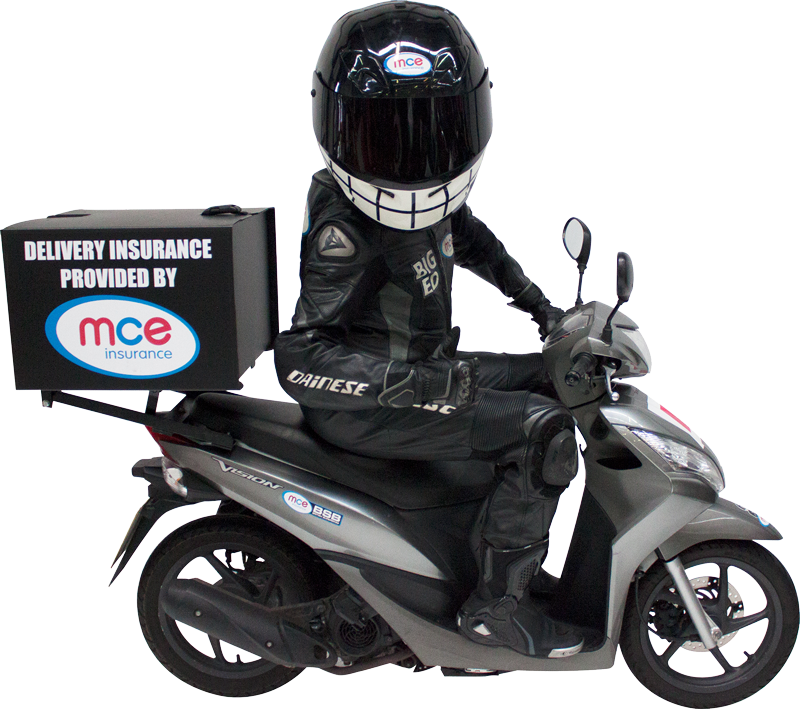 Transparent motorcycle fast. Food delivery insurance mce