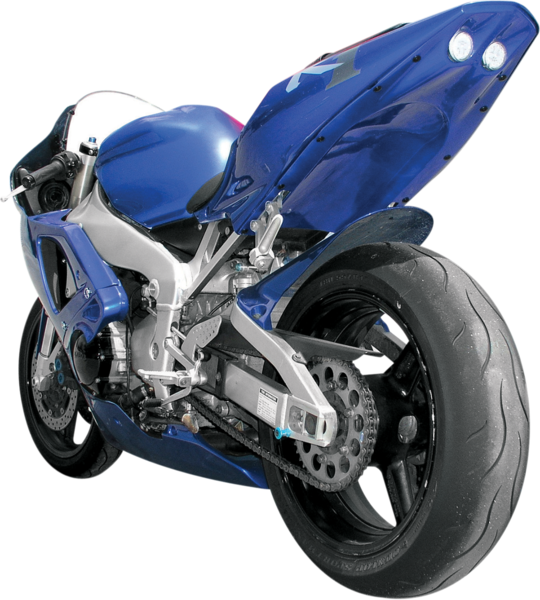 Transparent motorcycle undertail. Hot bodies w led