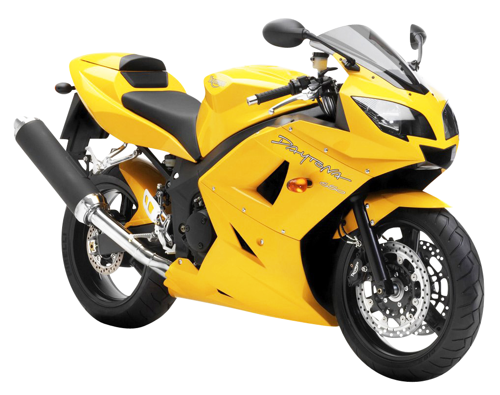 Transparent motorcycle yellow. Triumph png image purepng