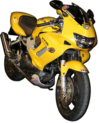 Transparent motorcycle yellow. Master tec about you