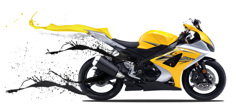 Transparent motorcycle yellow. Download free png background