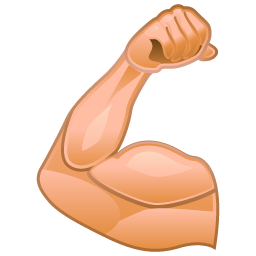 Transparent muscles. Icon medical iconset iconshow