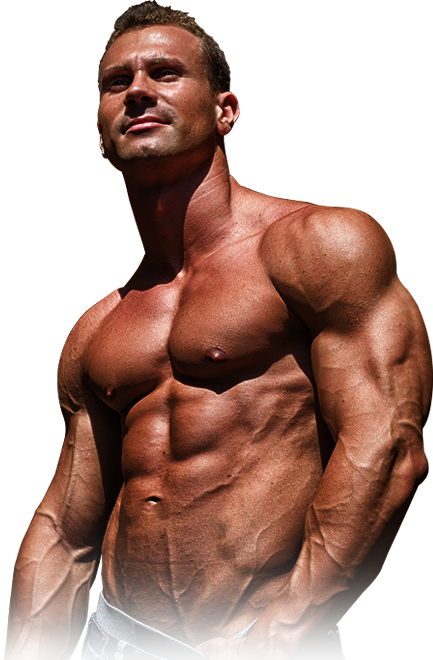 Transparent muscles body. How stretching can explode