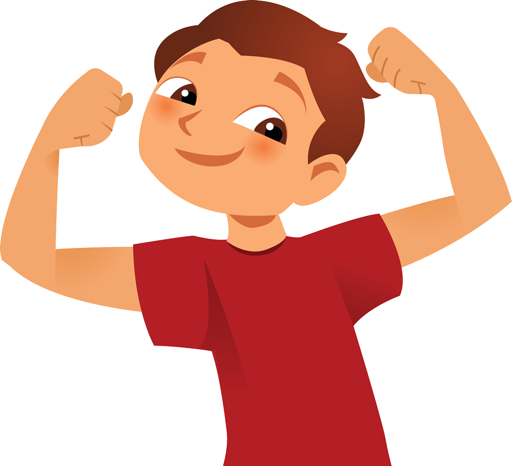 Transparent muscles kid powerpoint. Jpg stong huge