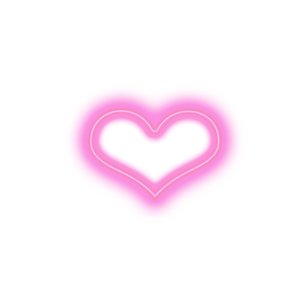 Heart aesthetic pink neon