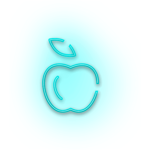 Transparent neon blue. Apple icon png svg