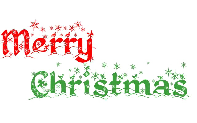 Transparent neon merry christmas. Image vector clipart psd