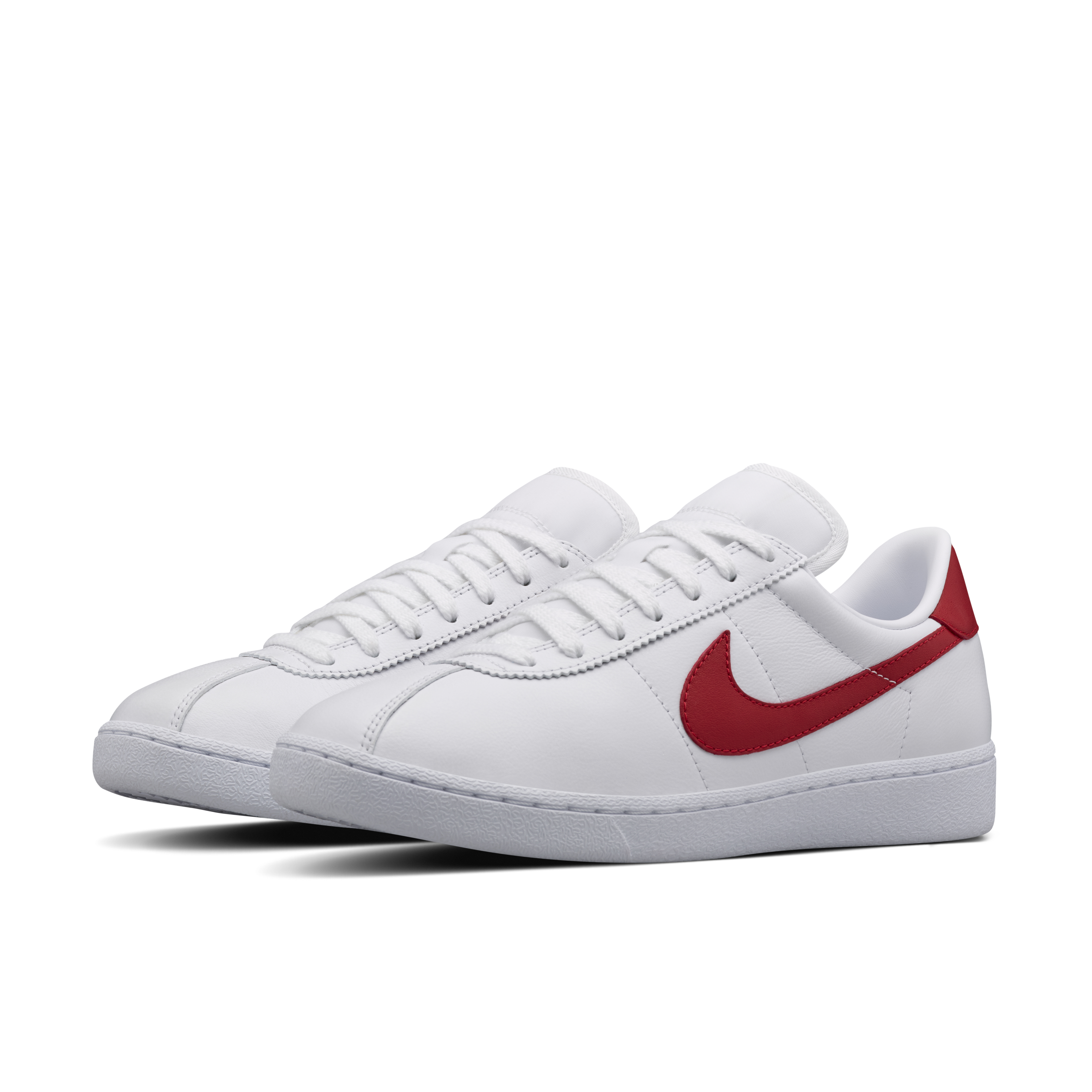 Transparent nike shoe. Red and white shoes