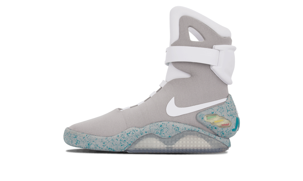 Transparent nikes air mag. The nike shoe that