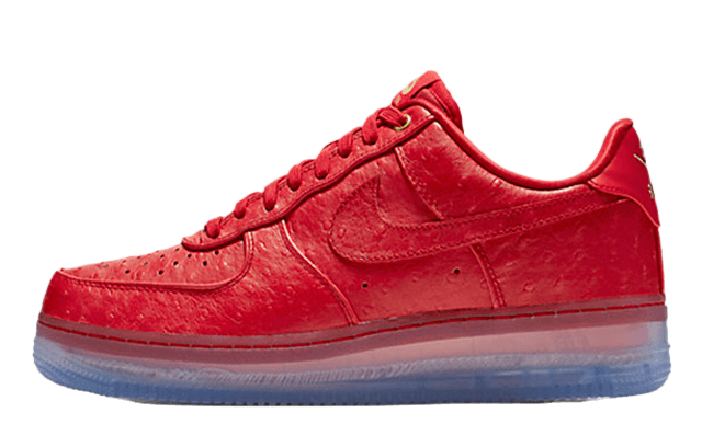Transparent nike air force 1. Low red ostrich the
