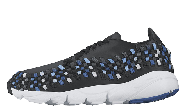 Transparent nikes silhouette. Nike air footscape woven