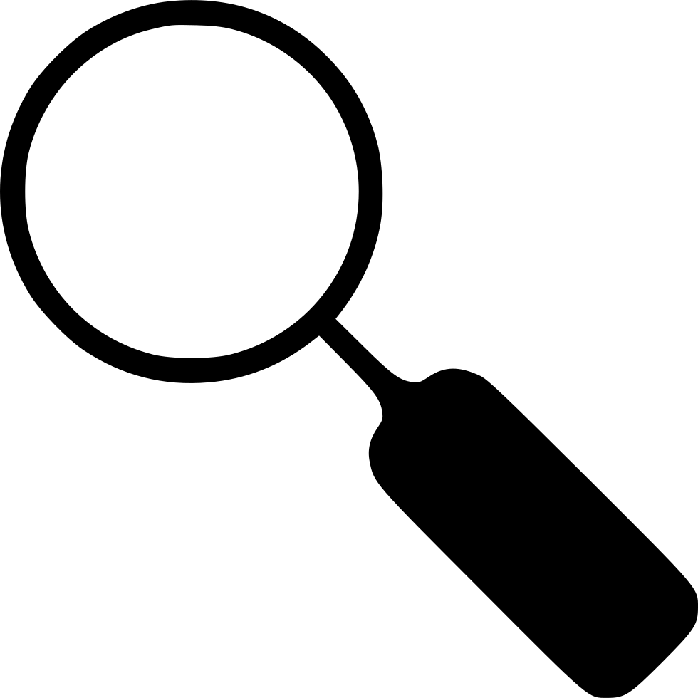 Transparent one magnifier. Svg png icon free