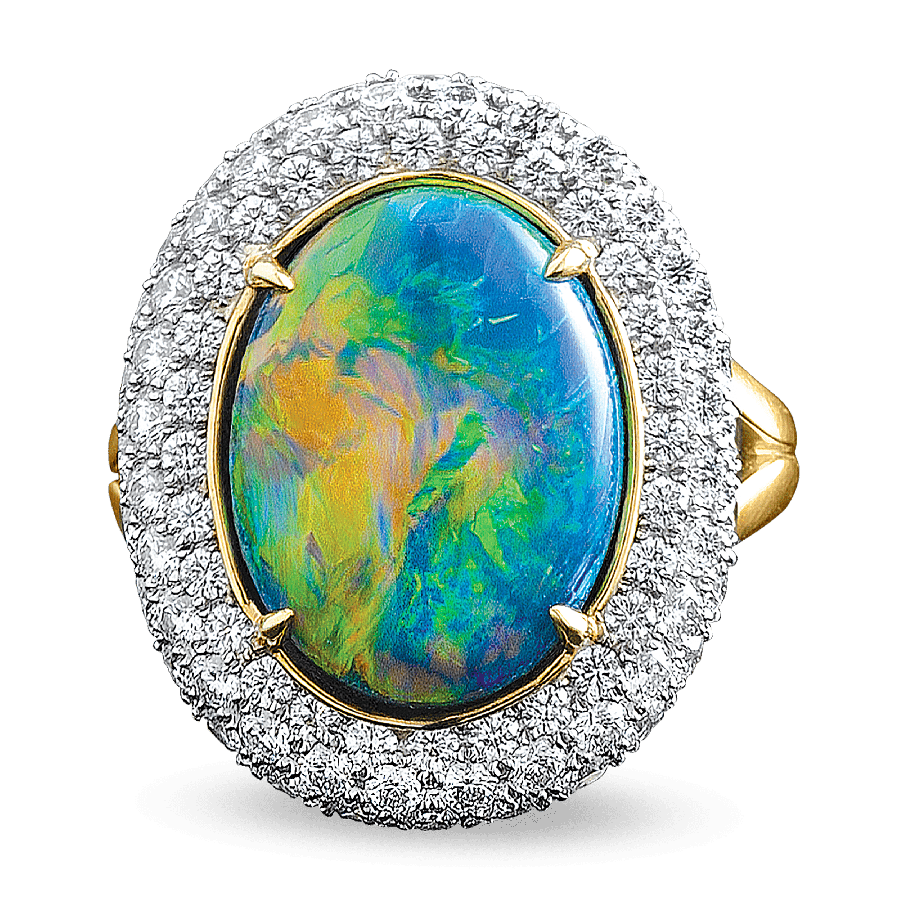 Transparent opal october. The mysterious cursed gemstone