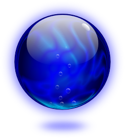 Transparent orb blur circle. The mana a tribute