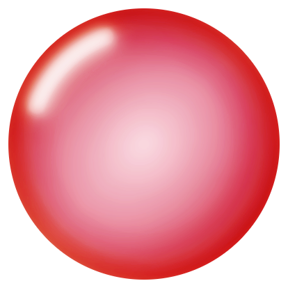 Transparent orb blur circle. Blank type large by