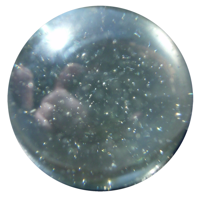 Transparent orb crystal. Stock ball by candy