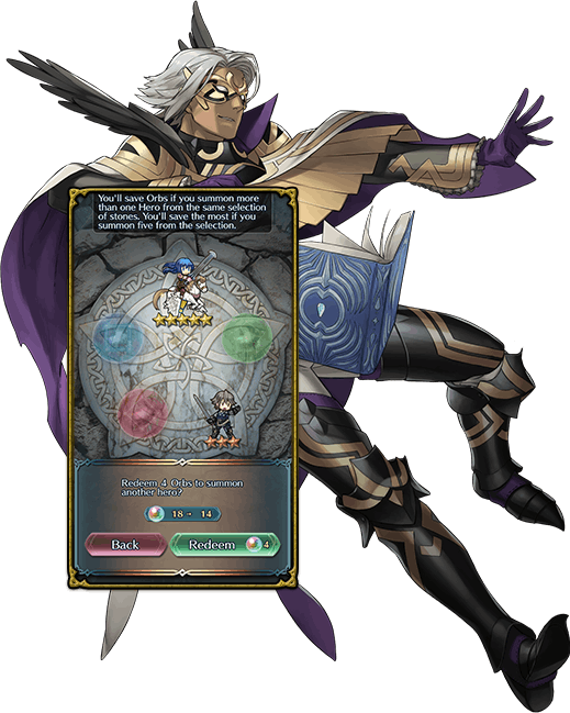 Transparent orb fire emblem. What being a gacha