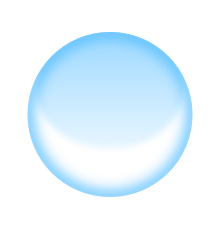 Transparent orb glass. Simple bubble in inkscape