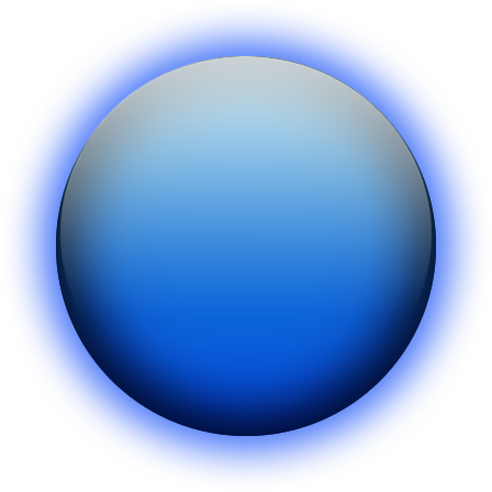 Transparent orb glow. Image glowing blue png