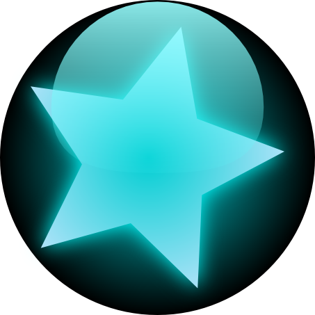 Transparent orb neon blue. Free glowing icon download