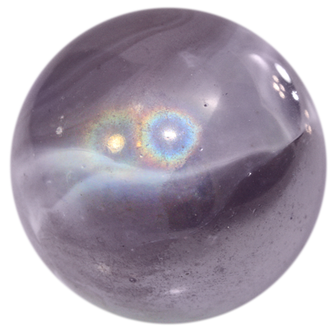 Transparent orb marble. Massive glass wizard mm