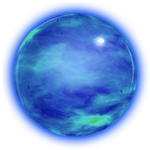 Transparent orb neon blue. Download smash for android