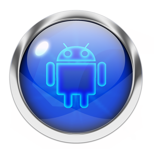 Transparent orb neon blue. App insights icon pack
