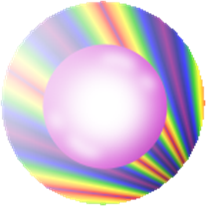 Transparent orb power. The shining of roblox