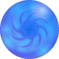 Transparent orb water
