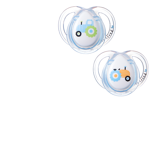 Transparent pacifier newborn baby boy. Every day pacifiers tommee