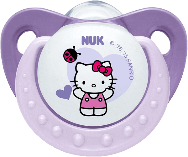 Transparent pacifier pastel goth. Nuk dummy hello kitty