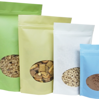 Transparent packaging aluminum bag food. Seed packets printing chocolate