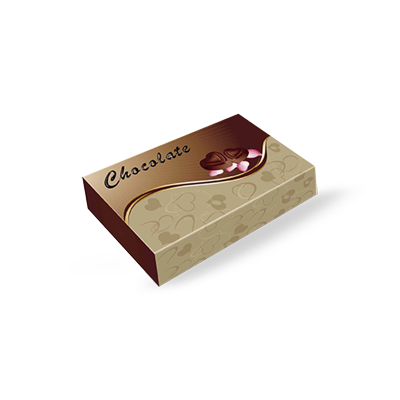 Transparent packaging chocolate. Boxes custom printed