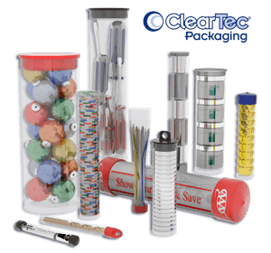 Transparent packaging clear. Plastic tubing and containers