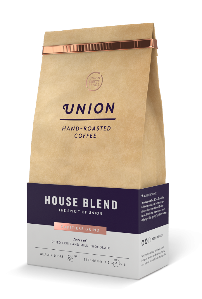 Transparent packaging coffee. Union unveils fresh for
