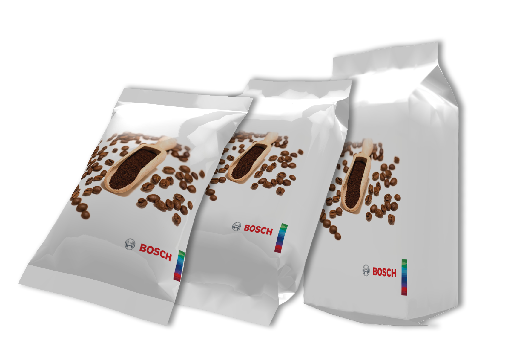 Transparent packaging coffee. Bosch launches efficient vertical