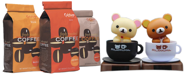 Transparent packaging coffee. Bags valves pouches