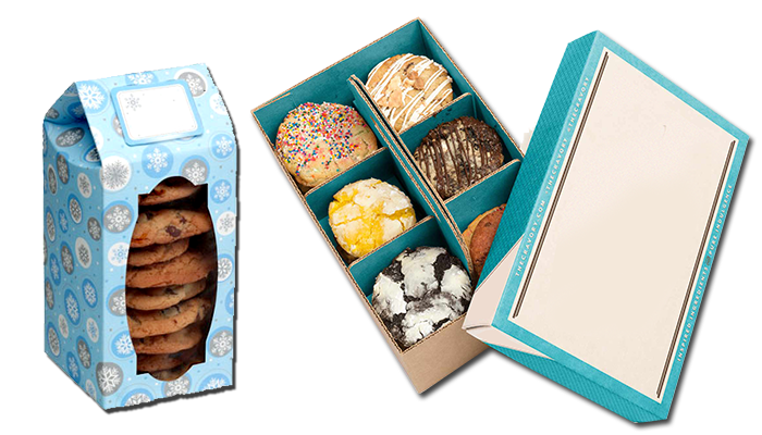 Transparent packaging cookie. Boxes wholesale custom supplier