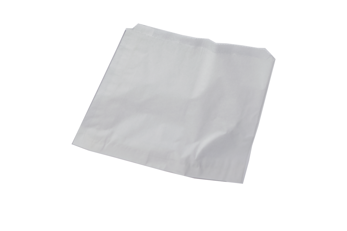 Transparent packaging paper. X white grease