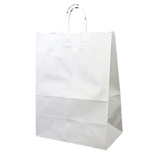 Transparent packaging paper. Eco bag a white