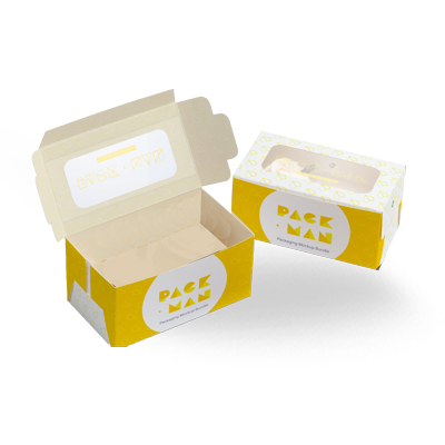 Transparent packaging printed. Custom popcorn boxes oxo